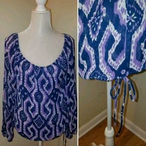 Nine West oversized blouse womens size small S top